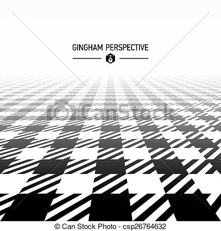 450x470 Gingham Pattern Perspective Illustration.