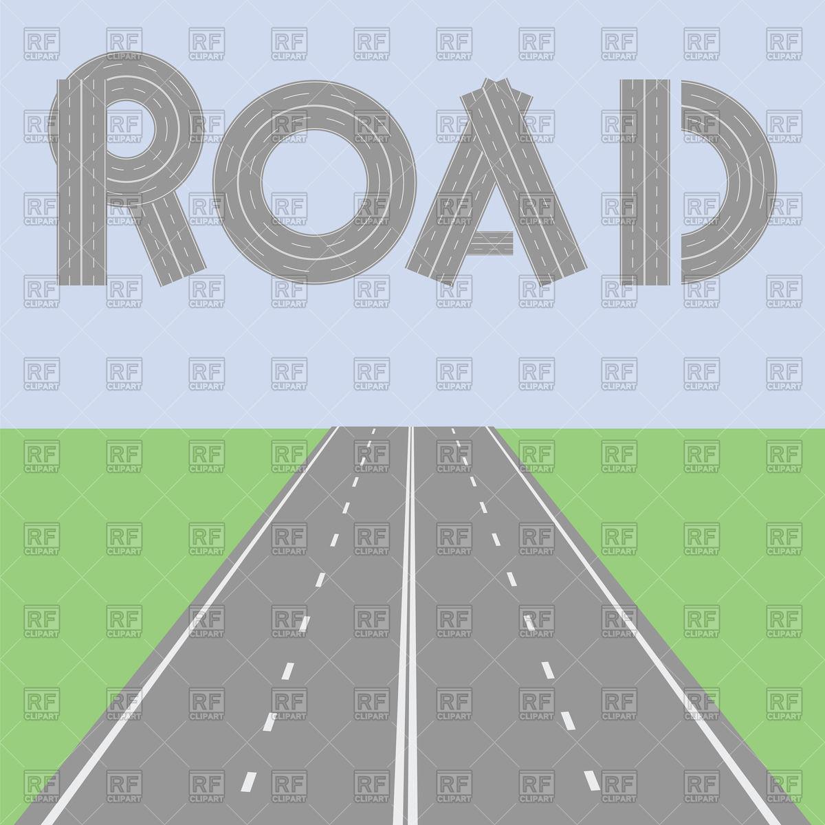 1200x1200 Highway In Perspective Vector Image Vector Artwork Of