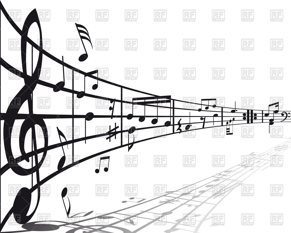 1200x960 Musical Notes Background In Perspective Vector Image Vector