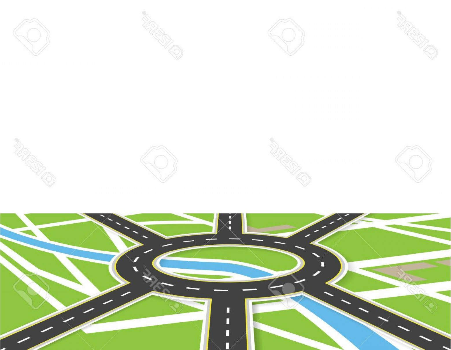1560x1213 Photostock Vector Crossroads Of Roads With Markings Roundabout