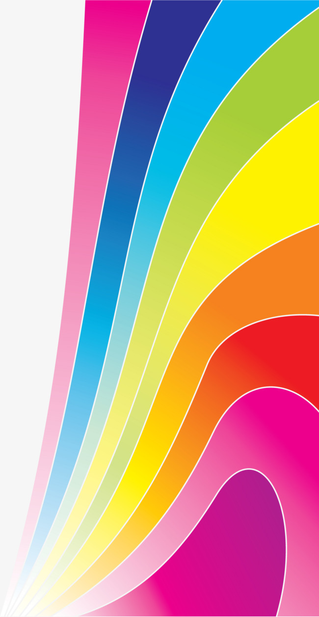 650x1259 Rainbow Geometric Perspective Vector Decorative Background