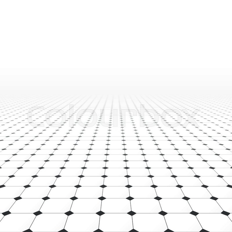 800x800 Tiled Infinite Floor. Abstract Background With Perspective
