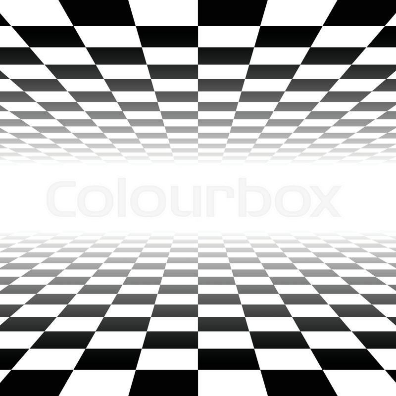 800x800 Vanishing Checkered Surface. 3d Surface In Perspective. Vector