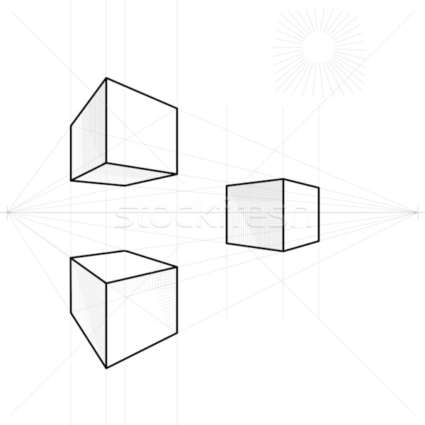 600x600 Vector Sketch Of A Cube In Perspective Vector Illustration Volha