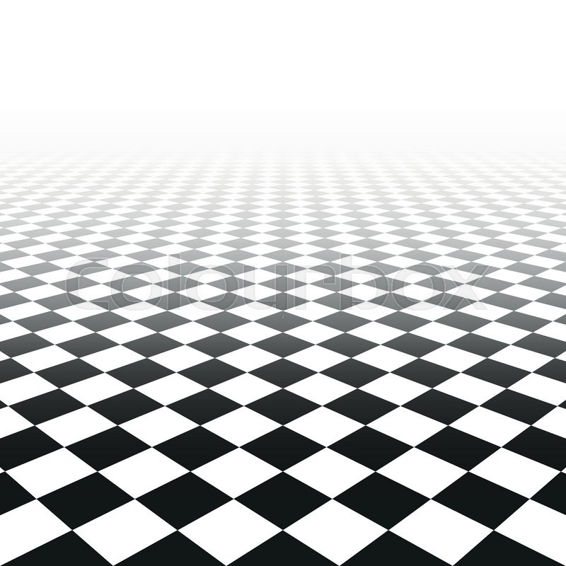 800x800 Abstract Background With Perspective. Vector Tile Floor. Stock