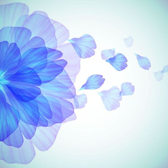 588x588 Blue Flower With Petal Vector Free Download
