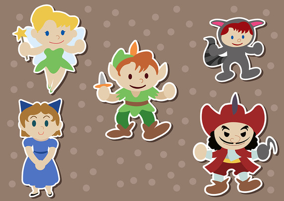 572x406 Peter Pan Pack Vector Free Vector Download In .ai, .eps, .svg Format