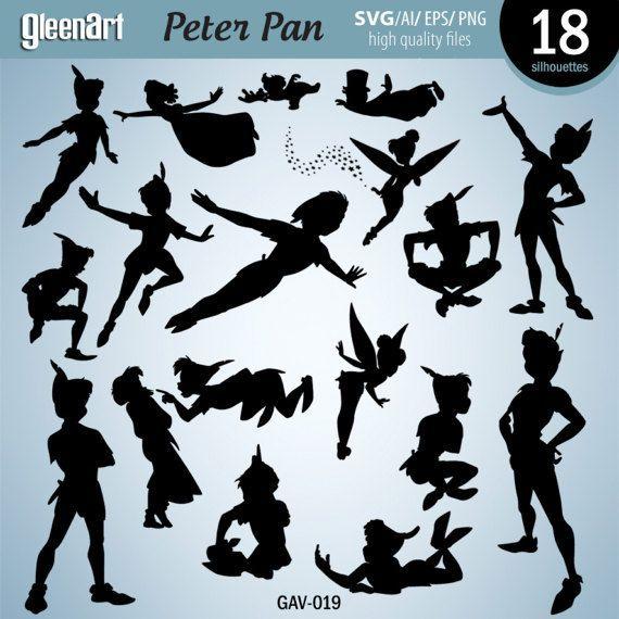 570x570 Peter Pan Silhouette Vector