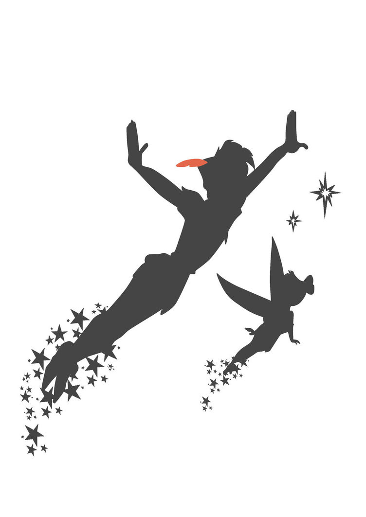 752x1063 Peter Pan Vector Silhouettes Brilliant Silhouette Flying