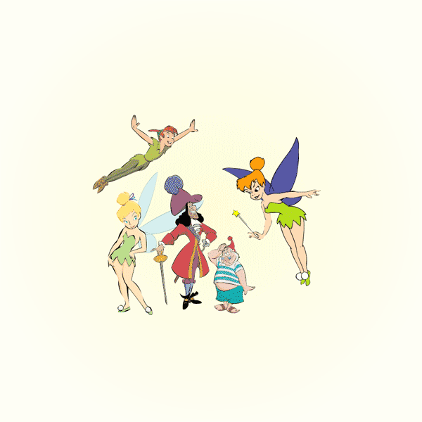 600x600 Peter Pan Characters