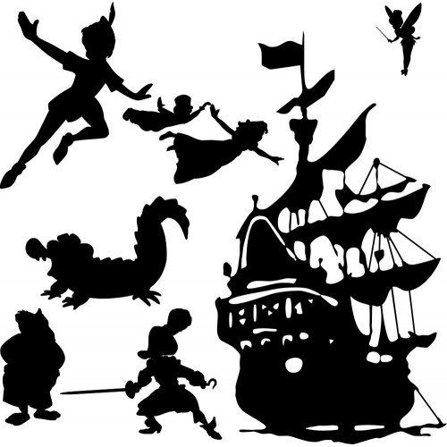 500x500 Peter Pan Silhouette Clip Art Clipart Collection