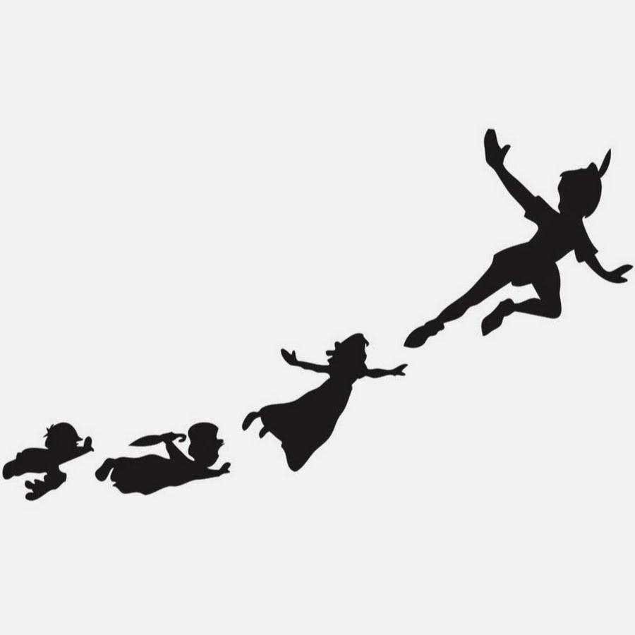 900x900 Unbelievable Peter Pan Flying Shadow Silhouette