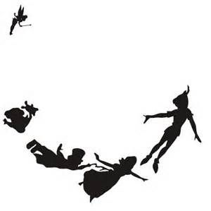 300x299 Peter Pan Flying Vector Silhouettes And Outline. Peter Pan Svg