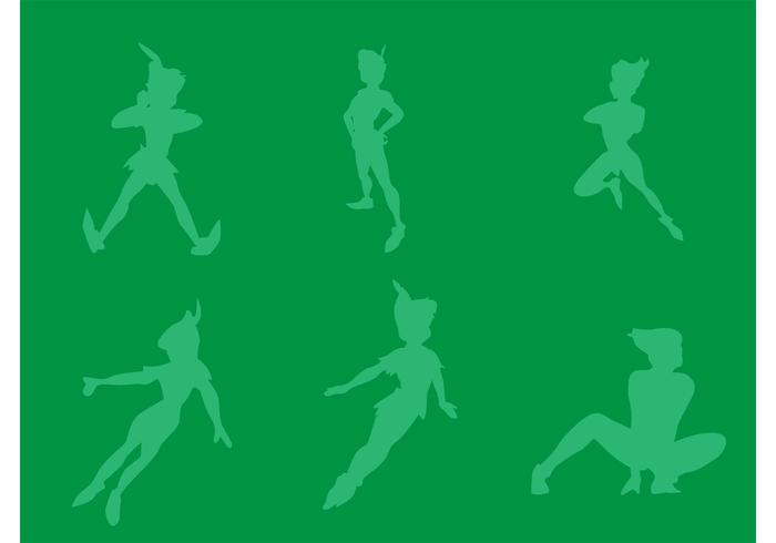 700x490 Free Vector Peter Pan Silhouettes