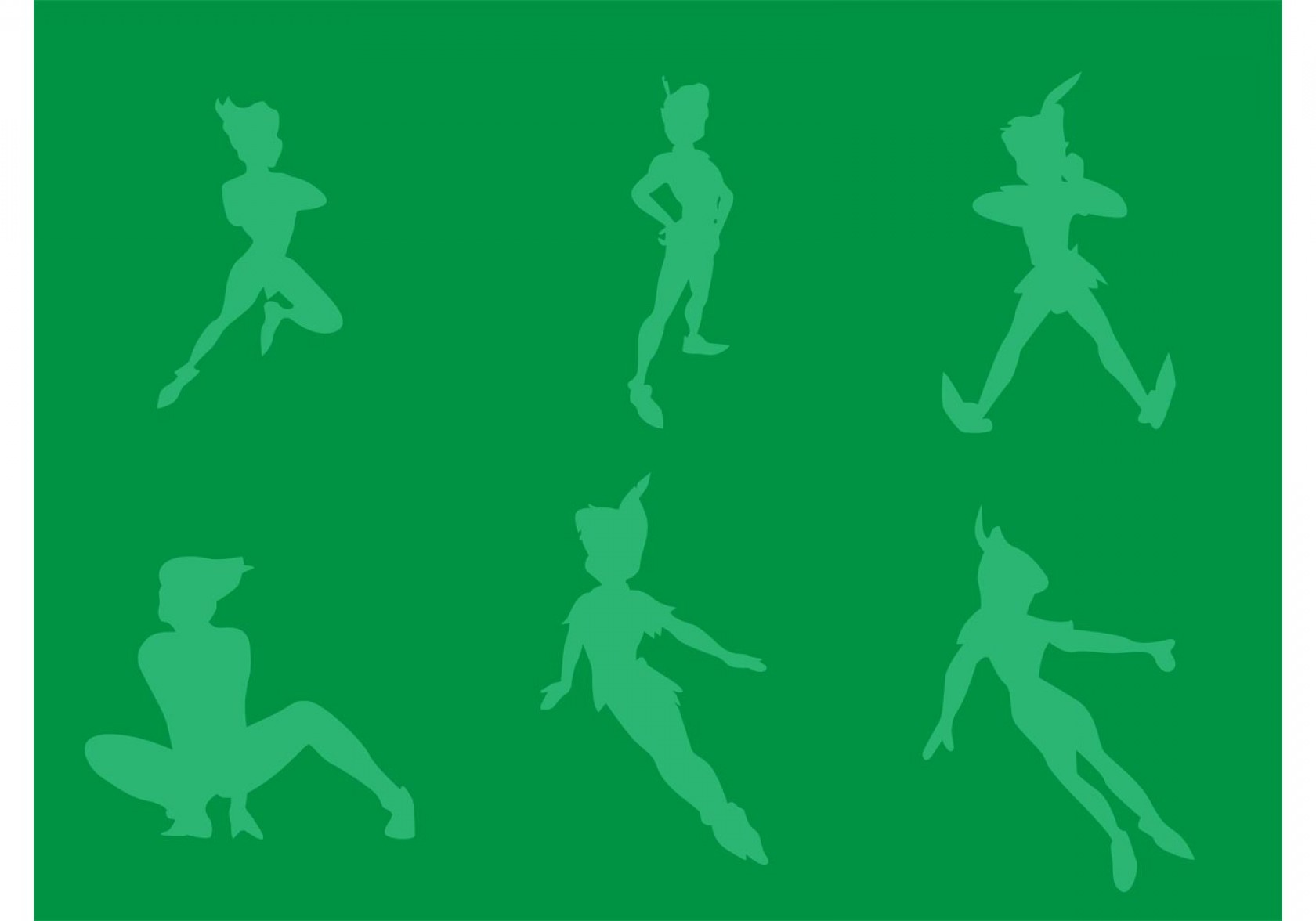 1680x1176 Free Vector Peter Pan Silhouettes Arenawp