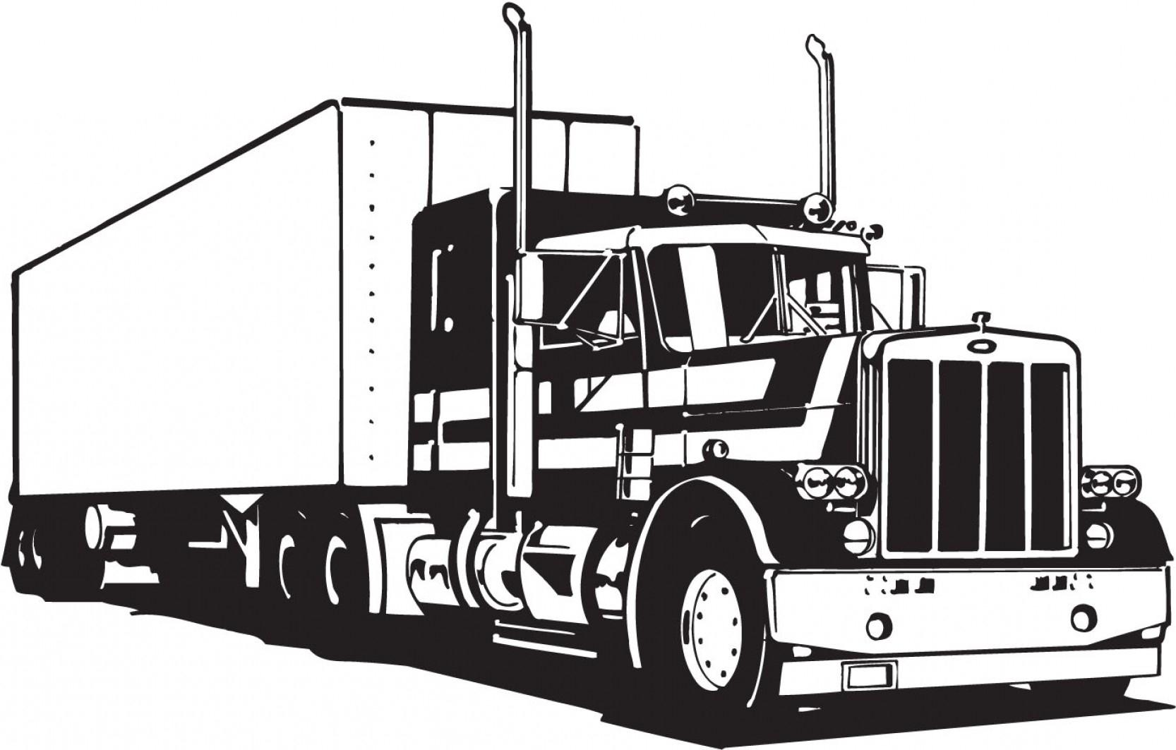 Peterbilt Truck Vector at GetDrawings | Free download