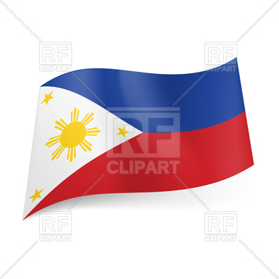 400x400 National Flag Of Philippines Vector Image Vector Artwork Of