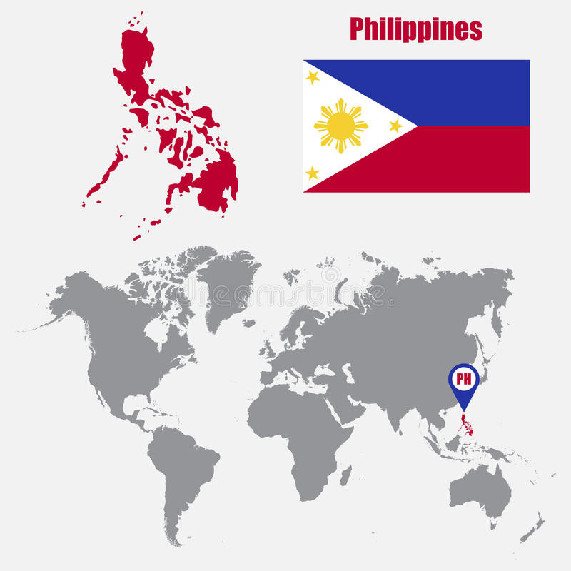 800x800 Philippines Map World Map Flag Map Pointer Vector Illustration