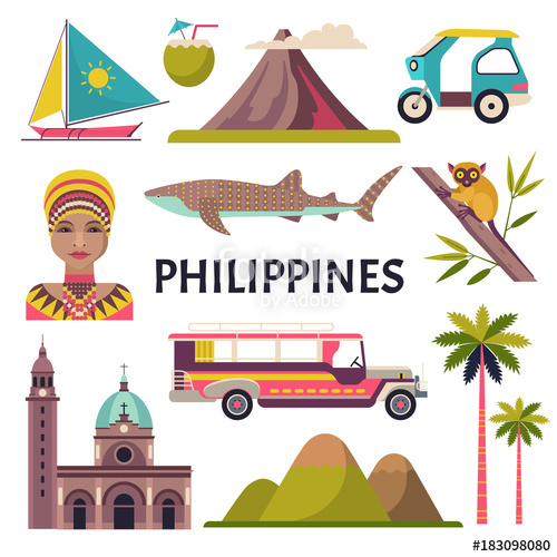 500x500 Philippines Icons Set. Vector Collection Of Philippine Culture And