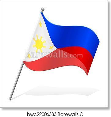 362x382 Art Print Of Flag Of Philippines Vector Illustration Barewalls