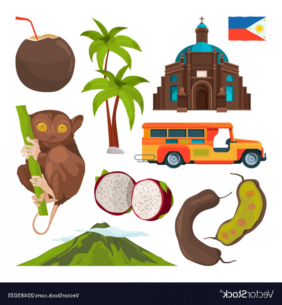1200x1296 Set Of Colored Symbols Of Philippines Vector Arenawp