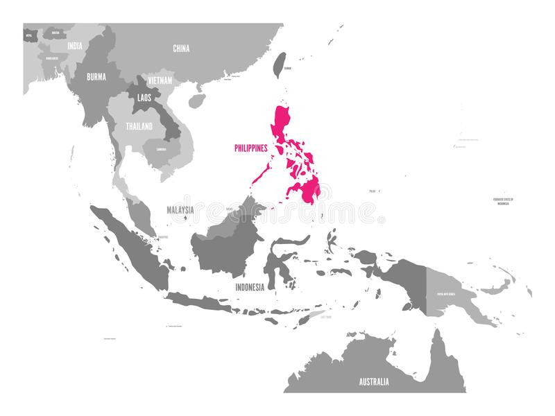 800x600 South East Asia Map Vector Free Lovely Vector Map Philippines Pink