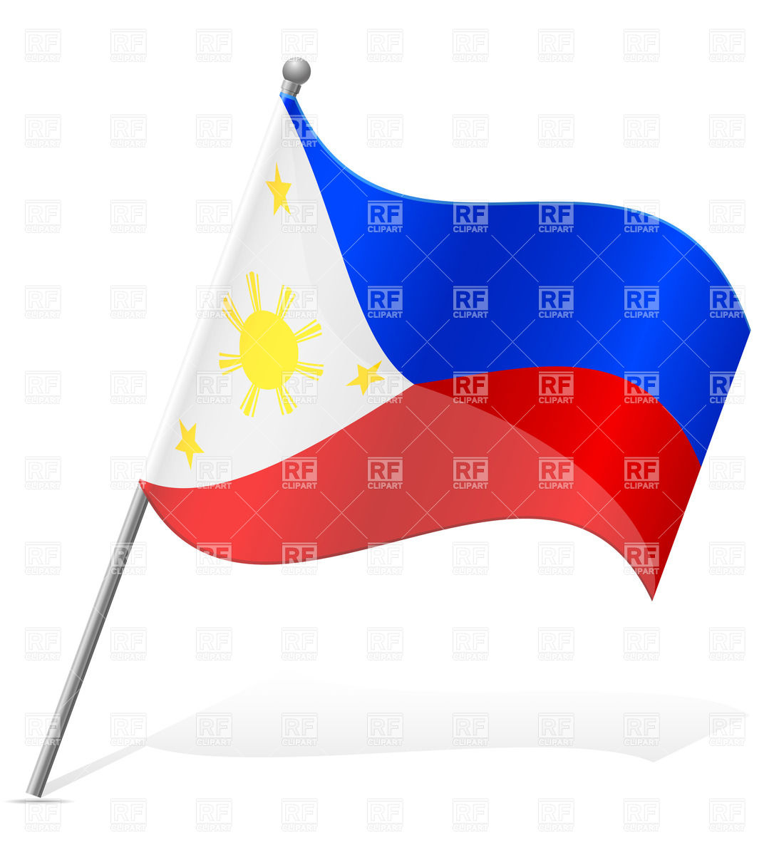 1086x1200 Wavy Flag Of Philippines Vector Image Vector Artwork Of Signs