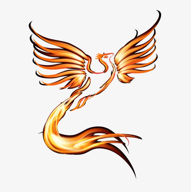 650x651 Golden Luminous Flying Phoenix, Phoenix Vector, Golden, Light Png