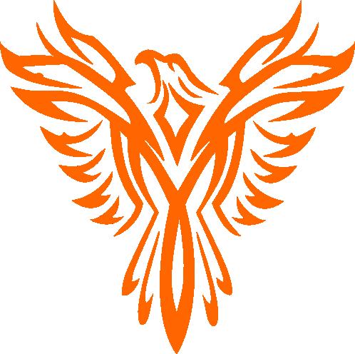 498x496 Orange Phoenix Vector By Dutchcrafter