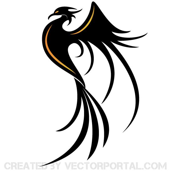 600x600 Phoenix Bird Vector Art 123freevectors