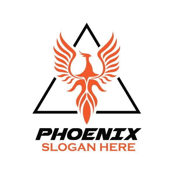 600x600 Creative Phoenix Logo Set Vector 09 Free Download