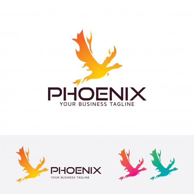626x626 Fire Phoenix Vector Logo Template Vector Premium Download