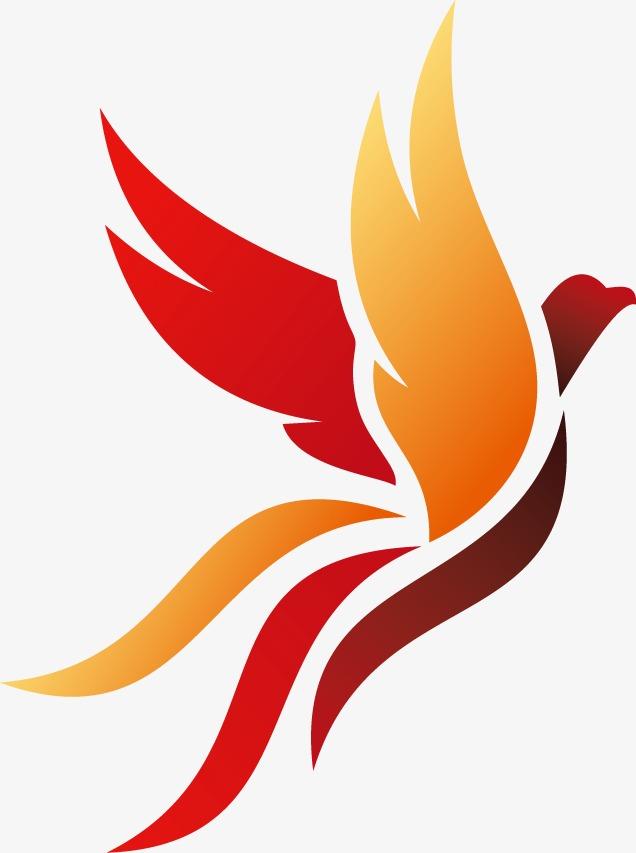 636x853 Orange Gradient Phoenix, Orange Vector, Gradient Vector, Phoenix