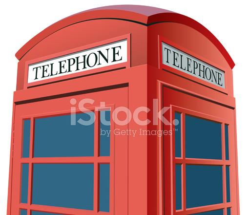 510x440 Vector London Phone Booth Closeup Stock Vector