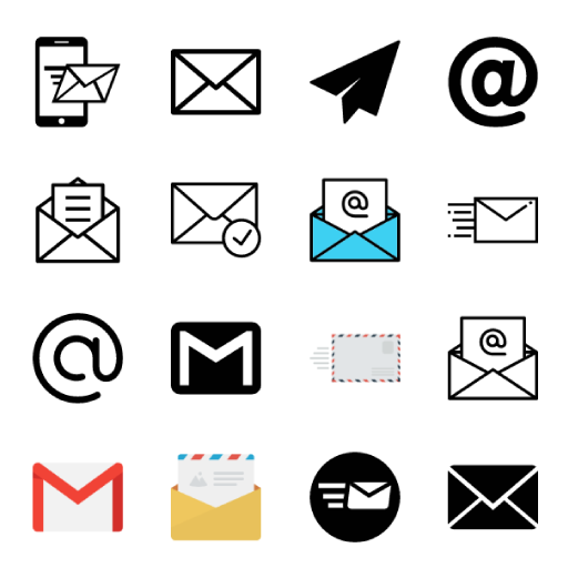 512x512 Images Of Email Phone Vector