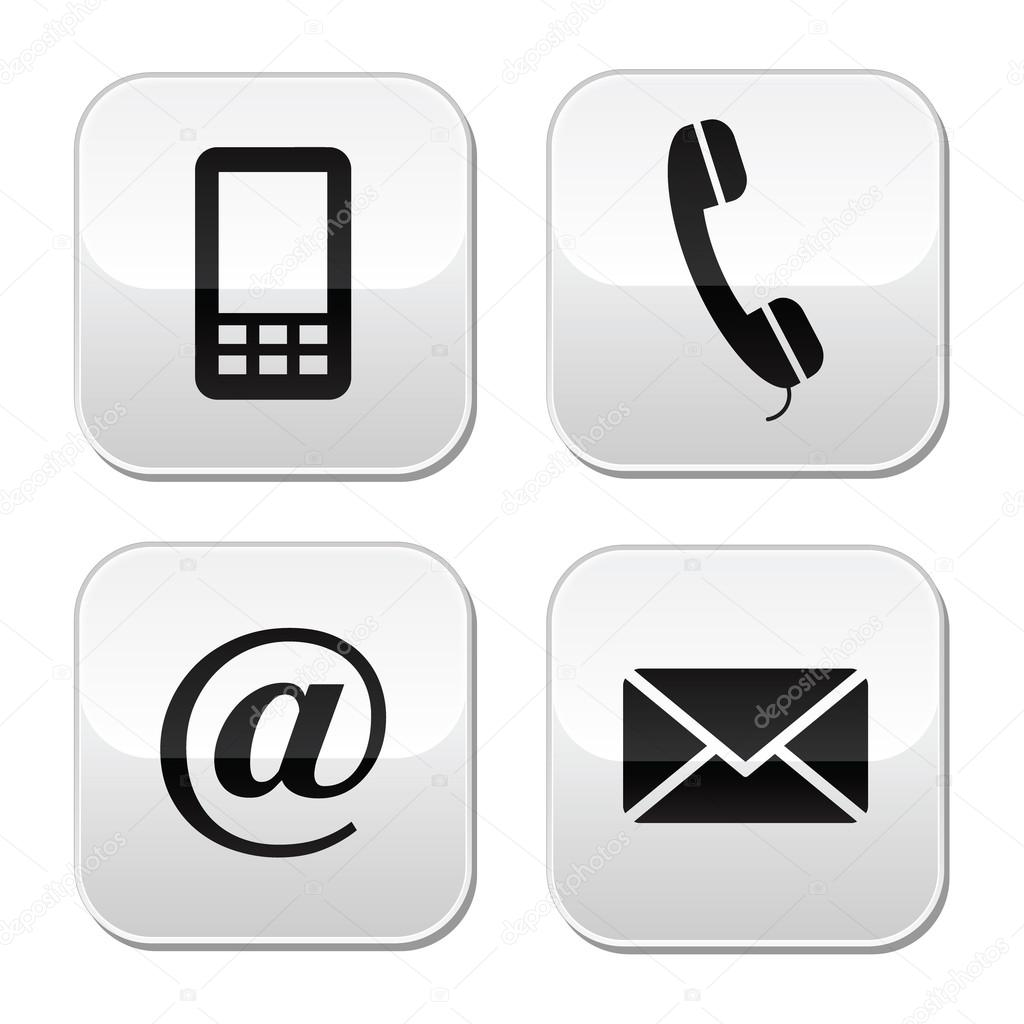 1024x1024 Phone Email Icon Vector
