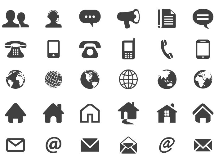 690x522 Contact Flat Icons Free Vector Praca Free Vector