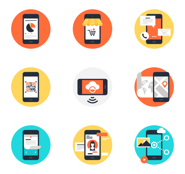 600x564 Mobile Phone Icons