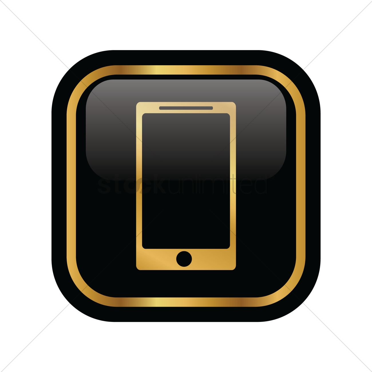 1300x1300 Mobile Phone Icon Vector Image