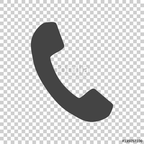 500x500 Phone Icon In Flat Style. Vector Illustration On Isolated