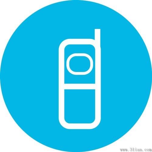 500x500 Blue Phone Icon Vector Free Vector In Adobe Illustrator Ai ( .ai