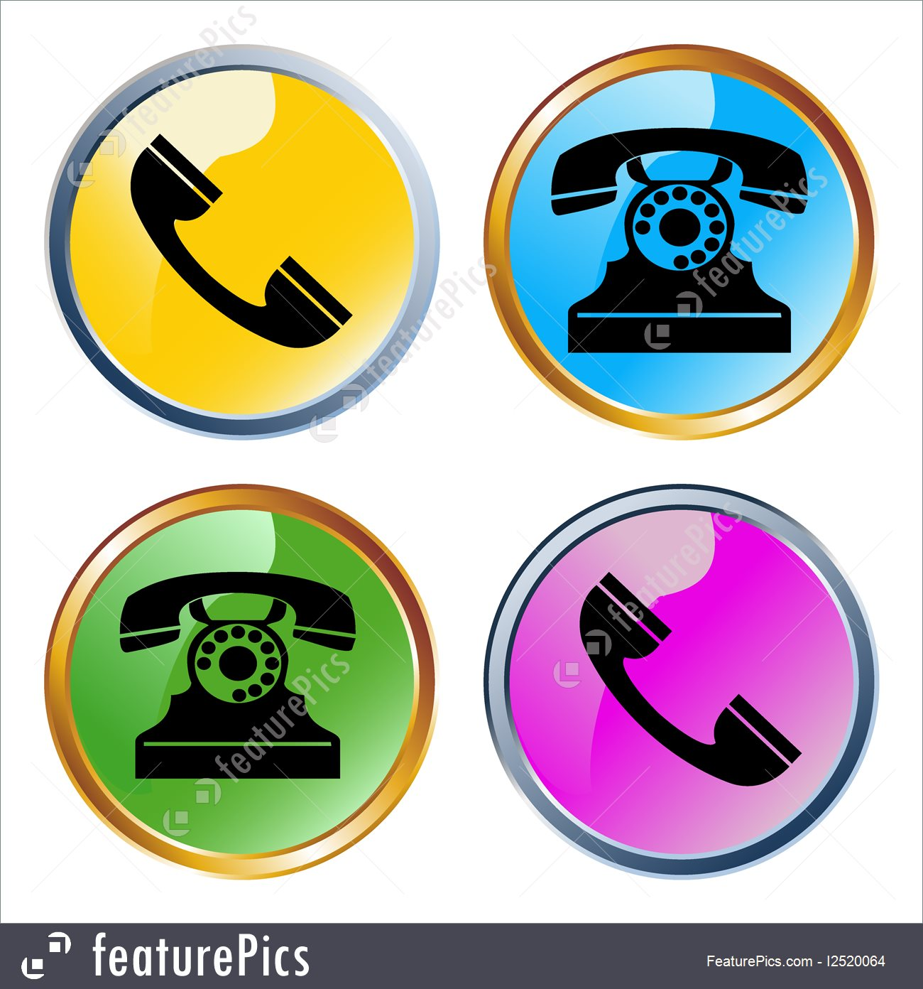 1300x1392 Templates Vector Glossy Phones Icons