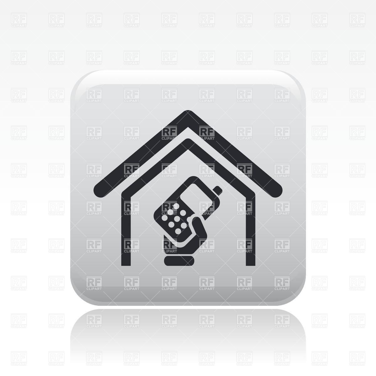 1200x1200 Hand With Handheld Transceiver Or Mobile Phone Icon Vector Image