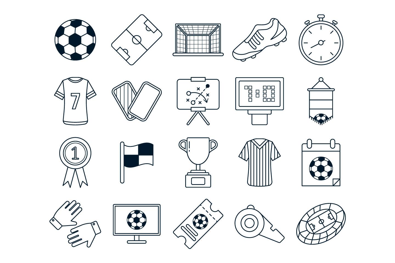 1440x960 Soccer Vector Free Icon Set