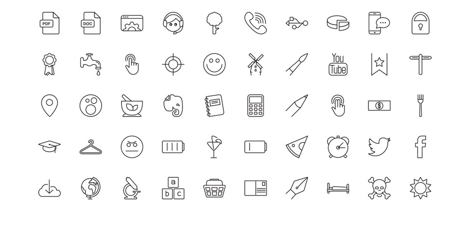 954x460 Ultimate Collection Of Free Line Icon Sets Css Author