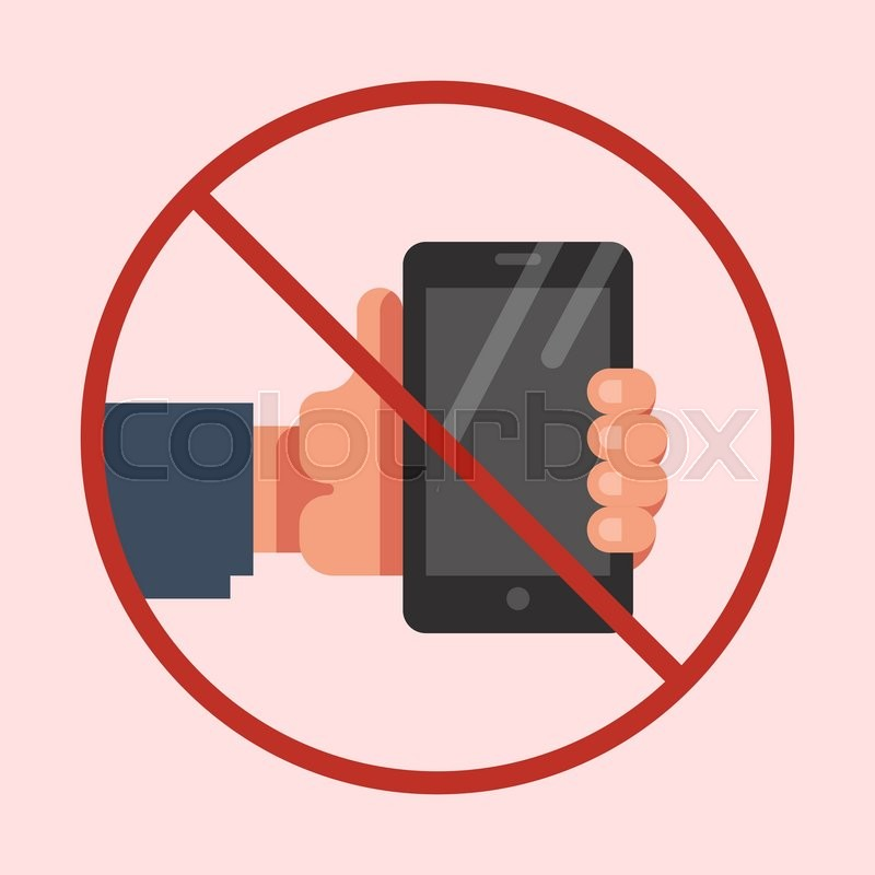 800x800 Do Not Use Mobile Phone Sign. No Mobile Phone Icon. No Cell Phone