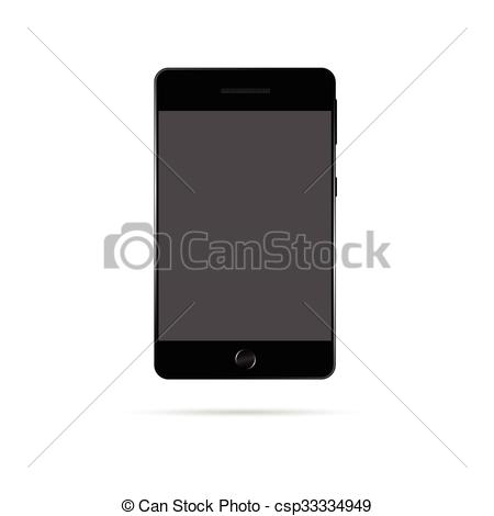 450x470 Mobile Phone Vector Illustration. Mobile Phone Vector Technology