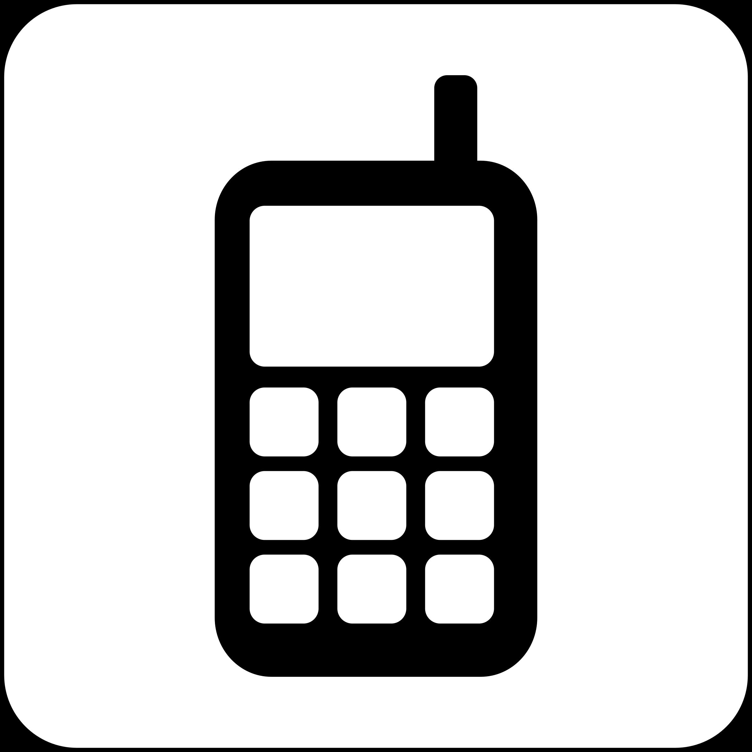 2400x2400 Big Cellphone Icon Vector Clipart Image