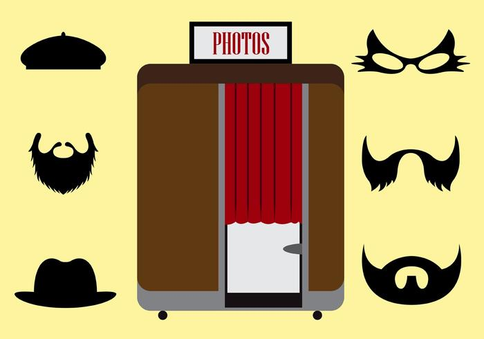 700x490 Vector Illustration Of A Photobooth And Other Accessories