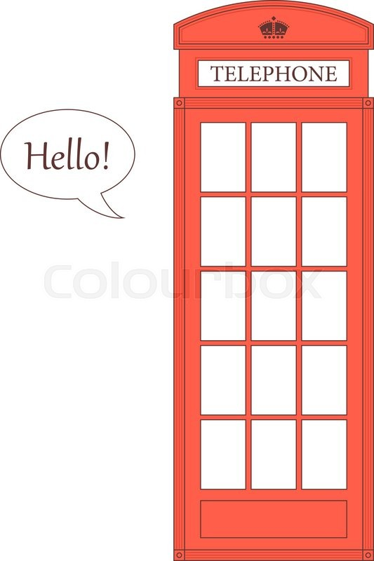 533x800 Vector Illustration Of A London Red Telephone Booth. Vector Image